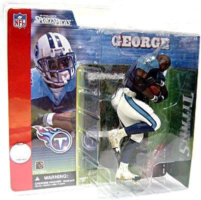 McFarlane Toys NFL Sports Picks Series 1 Action Figure Eddie George (Tennessee Titans) Blue Jersey No Helmet Variant by McFarlane Toys
