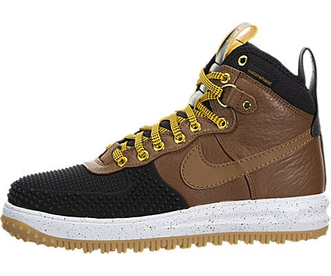 Nike Mens Lunar Force 1 Duckboot Black/Light British Tan Leather Size 8