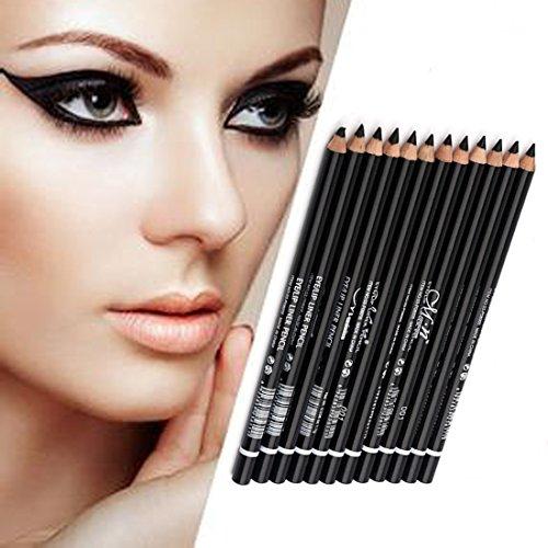 lookathot-12pcs-eyeliner-eyebrow-pencil-pen-set-waterproof-smudge-proof-long-lasting-run-smoothly-ey