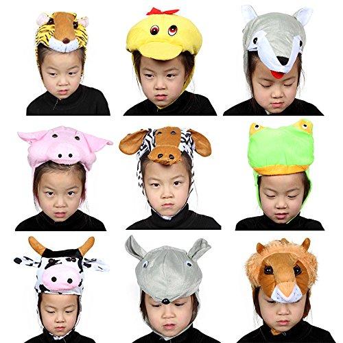 Sevenpring Chic Design Cute Kids Performance Accessories Cartoon Animal Hat (Pink Pig) by Sevenpring