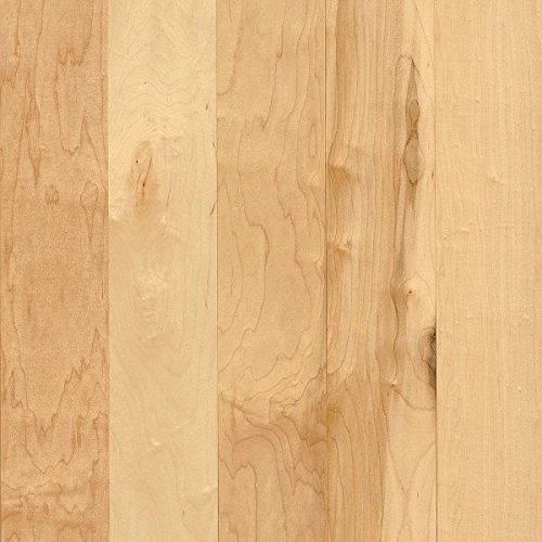 5 Maple Natural Hardwood Flooring - Armstrong APM5400 Prime Harvest Solid Maple Hardwood Flooring, 3/4