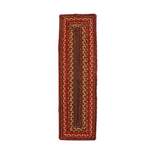 Homespice Rectangular Jute Braided Rugs, 8-Inch by 28-Inch, Cider Barn