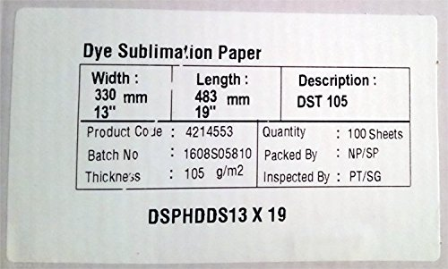 13'' x 19'' Genie Sublimation Ink Transfer Paper, 100 Sheets