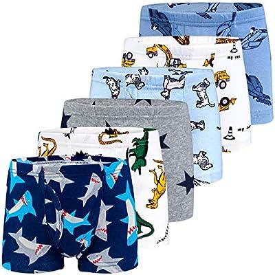 BOOPH Boys Boxer Briefs Shorts Cotton Dinosaur Robot Baby Toddler Underwear for Kids Boy 2-10Y 3//6 Pack
