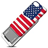 iPhone 7 / iPhone 8 Case, DesignSkin [Slider] [Sliding Card Holder Slot] Extreme heavy Duty 3-Layer Bumper Protection Wallet Cover with Card Holder Case Cover for iPhone 7/8 - Patriot