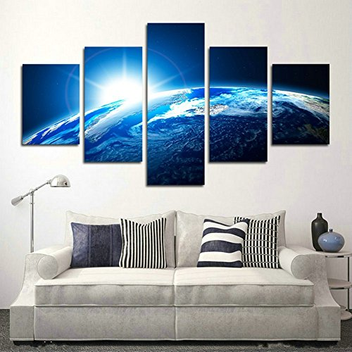 5 Piece Diamond Dust - Blxecky DIY 5D Diamond Painting Cross Stitch Crafts Kit, 5 sets of splicing paintings. Home living room decoration. Planet