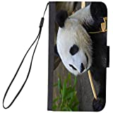 Rikki Knight Premium PU Wallet Flip Case with Kickstand and Magnetic Flap for iPhone 7 PLUS - Panda Face Close
