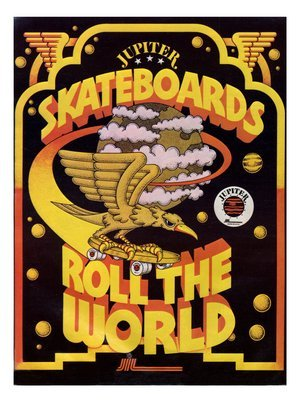 Retro Kitsch And Culture Prints: Jupiter Skateboard Advert - 1970s Print - 40x30cm