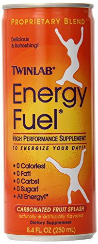 Twin Lab Energy Fuel , Carbonated Fruit Splash, 4 - 8.4 oz Cans