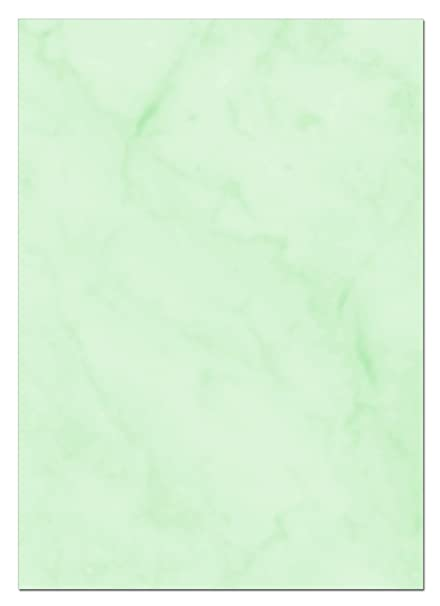 Gastronomía Papel (verde de mármol, A6, 100 hojas) para menús ...