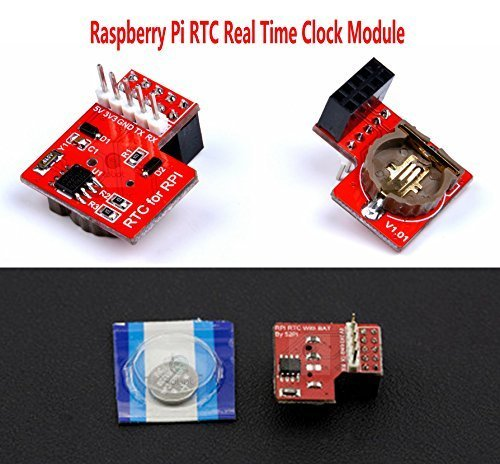 CQRobot Raspberry Pi RTC Real Time Clock Module - Compatible Raspberry Pi 3, USE I2C Communication Mode, Onboard DS1307 Clock Chip and a 1220 Coin Cell Battery by CQRobot