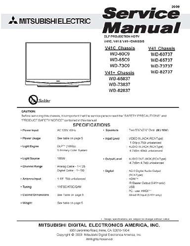wd60735 service manual professional user manual ebooks u2022 rh justusermanual today Mitsubishi 65 DLP HDTV Manual Mitsubishi WD-60735 DLP Bulb