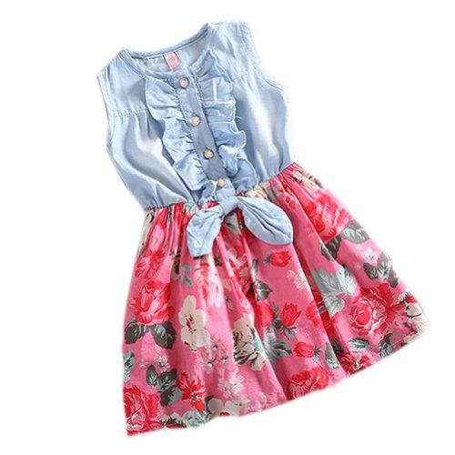 PanDaDa Denim Sleeve Princess Skirts
