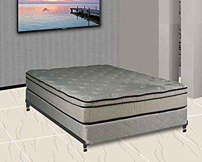 Continental Sleep Euro Top Orthopedic Mattress and Box Spring with Frame and Cozy Teddy Bear Fabric, Queen