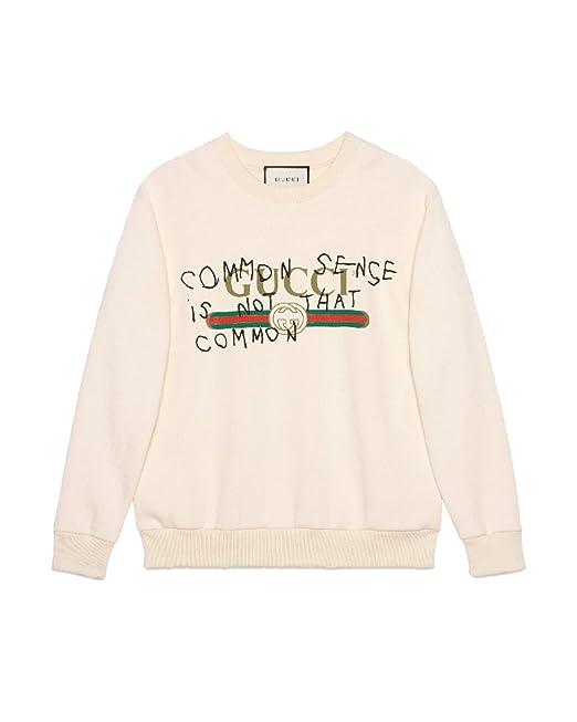 643908566d Gucci Felpa Donna 469250X3I069097 Cotone Beige: Amazon.it: Abbigliamento