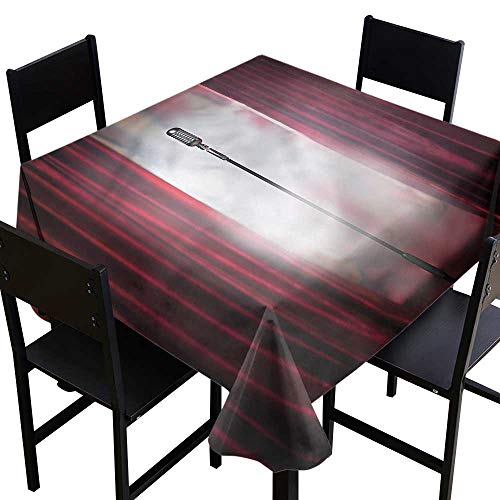 haommhome Polyester Tablecloth Musical Theatre Performance Singer Washable Tablecloth W63 xL63 Great for Buffet -