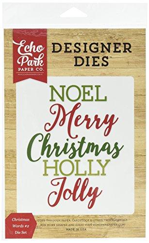 Echo Park Paper Company Christmas Words #2 Die Set