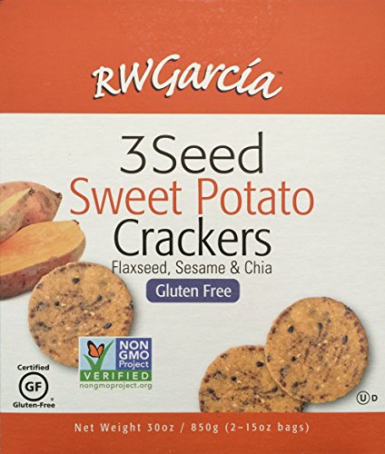 Red Sweet Potatoes (RW Garcia 3 Seed Sweet Potato Crackers - 2 x 15 oz Bags)