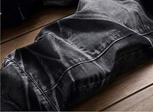 Ne Alla Cowboy Ragazzo Da Classici Autoscatto Blackwhite Ssig Uomo Moda In Cotone Jeans Dritti RPZx0qw0