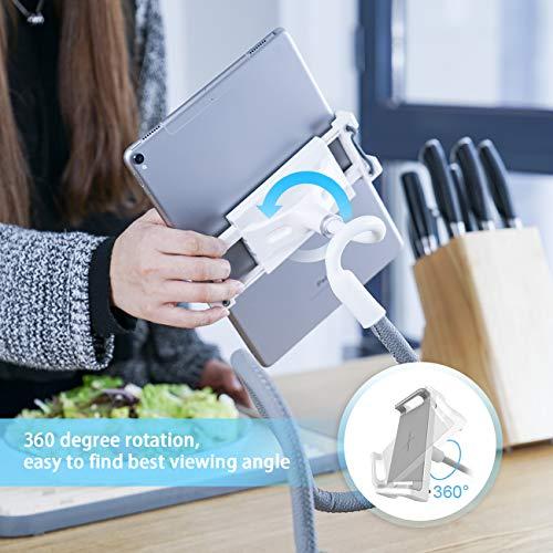 Lamicall Soporte Tablet, Multiángulo Soporte Tablet : Soporte con Cuello de Cisne para Pad 2018 Pro 10.5/9.7, Pad Mini 2 3 4, Pad Air 2, Phone, ...