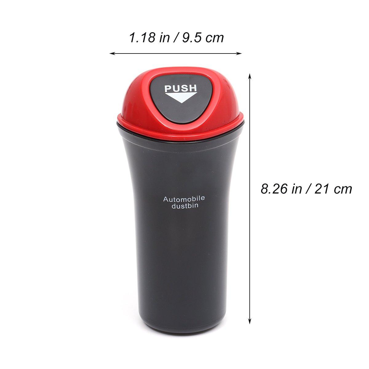 Color Rojo Depory Caja de Almacenamiento para Papelera de Coche