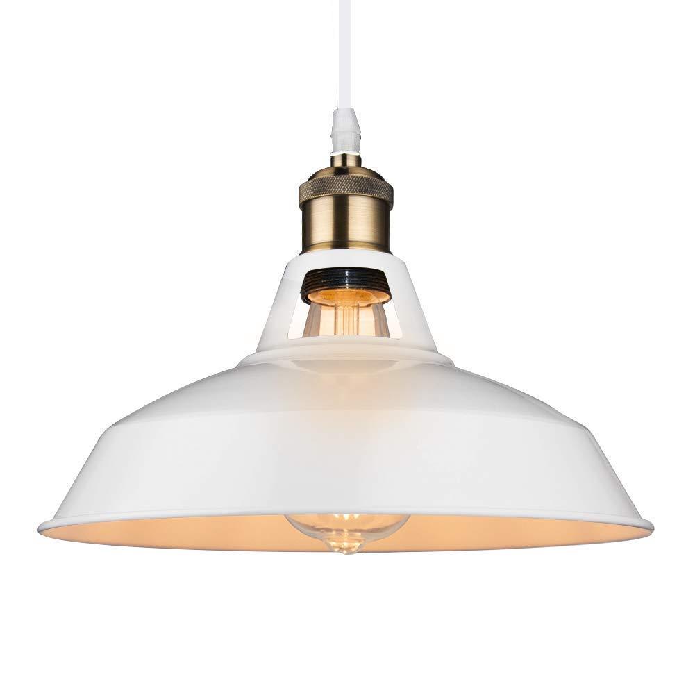 B2ocled Metal Pendant Lighting 1 Light Edison industrial Hanging Lamp for Homes/Kitchen/Restaurant/Bar(Diameter 12in)