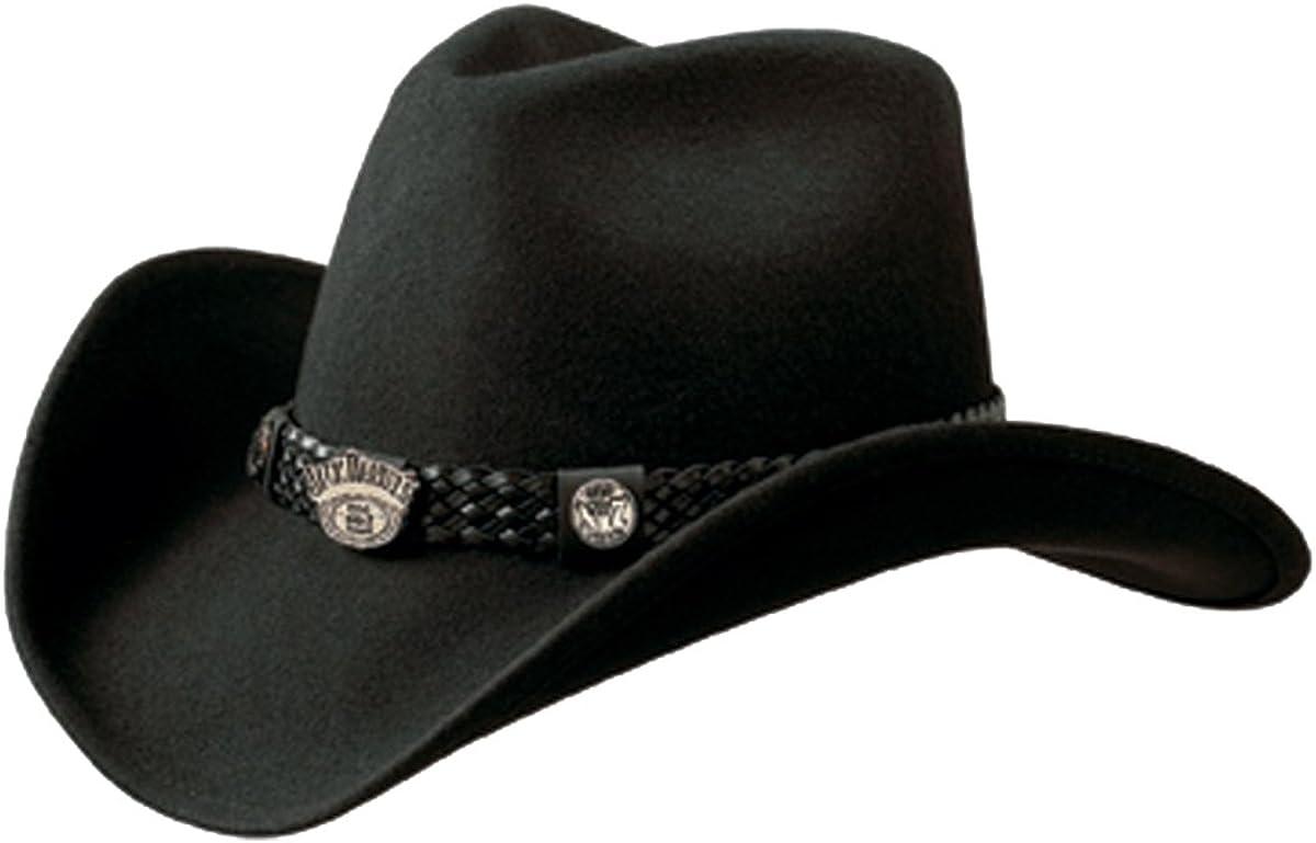 Jack Daniels Hats Crushable Water Repellent Wool Western Cowboy Hat Large