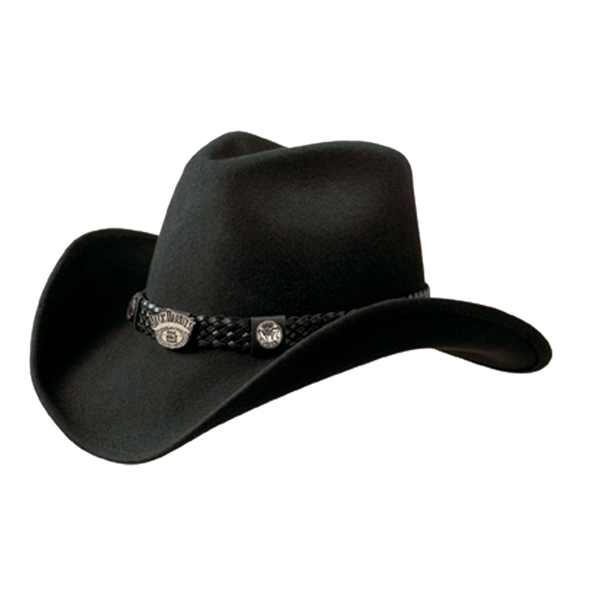 Jack Daniel's Hats Crushable Water Repellent Wool Western Cowboy Hat (Large) FM Hat JD03-E