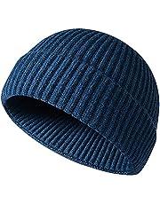 JFAN Men's Beanie Hats Winter Knit Daily Wearing Roll up Fisherman Beanie Hat