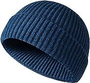 JFAN Men's Beanie Hats Winter Knit Daily Wearing Roll up Fisherman Beanie