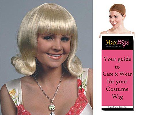 Flip Joan 60s Color Auburn - Enigma Wigs Women's Sixties Prom Flipped Bob American Bundle with Wig Cap, MaxWigs Costume Wig Care -