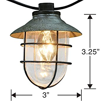 10ct Oversized Wire Lantern String Light
