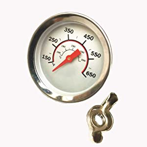 2.67 Inch Barbecue Grill Temperature Gauge for CharBroil 8566083 Pit BBQ Thermometer Fahrenheit and Heat Indicator for Meat Cooking, Stainless Steel Temp Gauge