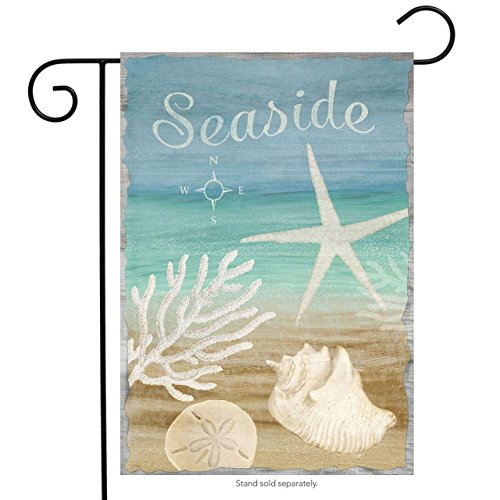 Briarwood Lane Seaside Summer Garden Flag Beach Seashells Nautical 12.5