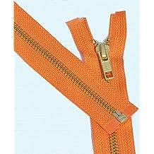 """30"""" Medium Weight Jacket Zipper YKK #5 Brass ~ Separating ~ 523 Orange (1 Zipper/pack) by YKK #5 Brass ~ Separating"""
