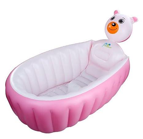 Portátil hinchable bañera bebé bañera engrosamiento plegable ...