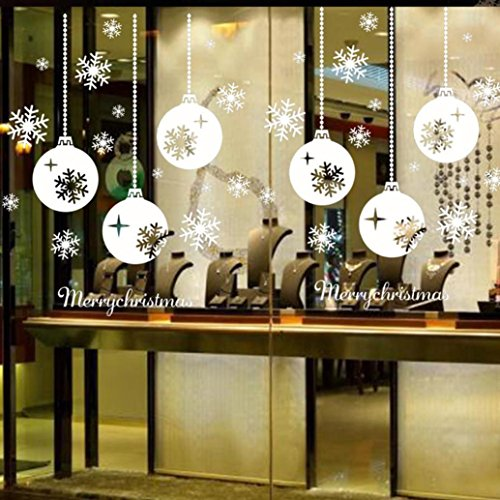 DZT1968 Christmas Snowflake Window Stickers Bedroom Living Room Wall