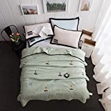 YU&AN Simple Quilt,Bed Linings,Anti-Wrinkle Hypoallergenic Bed Cover Suitable for Spring Summer Autumn-E 180x200cm(71x79inch)