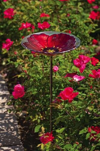 Evergreen Glass Enterprises, EG2GM311 Enterprises, BirdbathStake B004O9L4G2 RubyPansy Glass B004O9L4G2, ミナベ町:826e74c6 --- ijpba.info