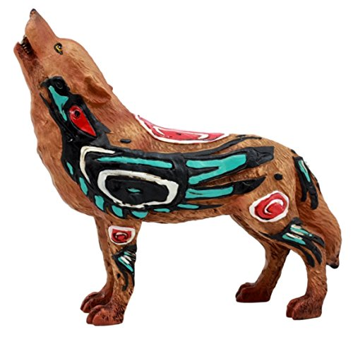 (Ebros Gift Native Tribal Howling Wolf Totem Spirit Figurine Collection 6.25