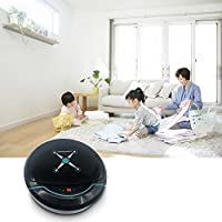 ♔Faber3♔ Intelligent Robotic Vacuum Cleaner Automatic Sweeping Machine Intelligent Floor Automatic Smart Vacuum Cleaner Robot Household Sweeping Robot Sweeper Machine for Home,Office (Silver) (Black)