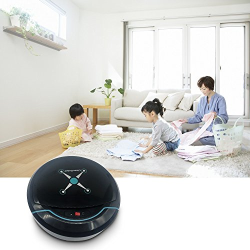 Faber3 Intelligent Robotic Vacuum Cleaner Automatic Sweeping Machine Intelligent Floor Automatic Smart Vacuum Cleaner Robot Household Sweeping Robot Sweeper Machine for Home,Office (Silver) (Black)