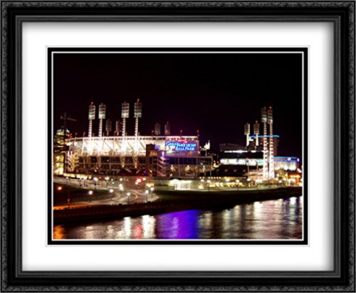 Great American Ballpark 2X Matted 34x28 Large Black Ornate Framed Art Print from The Stadium Series