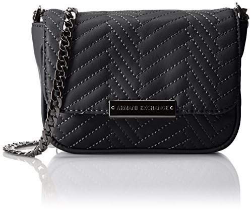 A Quilted Crossbody Exchange Armani X Black Pu tXqwtrnfA