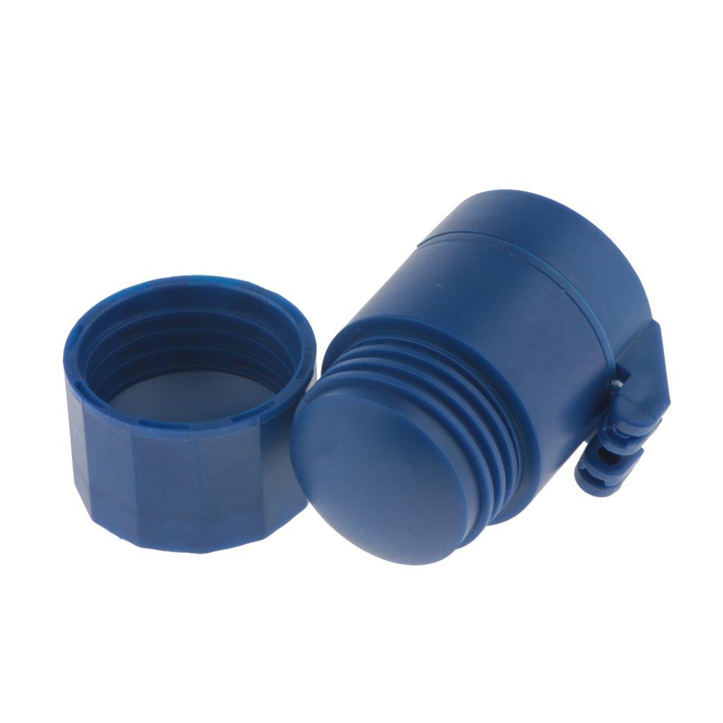 Gazechimp Caja de Almacenaje de Medicina con Divisor de Cortadora de Tableta 1.97 2.56 pulgadas Azul 1.57