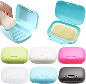 6 Colors Portable Plastic Soap Case Holder,Travel Soap Dish Sealing Waterproof,Bath Soap Box Holder Suitable for Bathroom,Shower,Home,Outdoor Camping