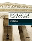 High Court Case Summaries on Evidence, Publisher's, Editorial Staff, 0314290400