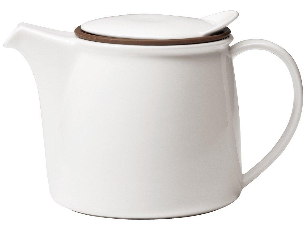 KINTO Brim Tea Pot 750ml White 22388