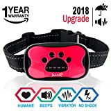 JANNIK Barking Control Collar for Dogs – Humane Stop Barking Training Collar – Vibration and Sound – No Shock Collar – Safe for Dogs and Human with Water Resistance.