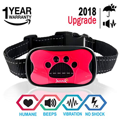 Cheap JANNIK Barking Control Collar for Dogs – Humane Stop Barking Training Collar – Vibration and Sound – No Shock Collar – Safe for Dogs and Human with Water Resistance.